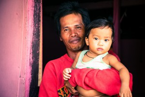Father with child Philippines